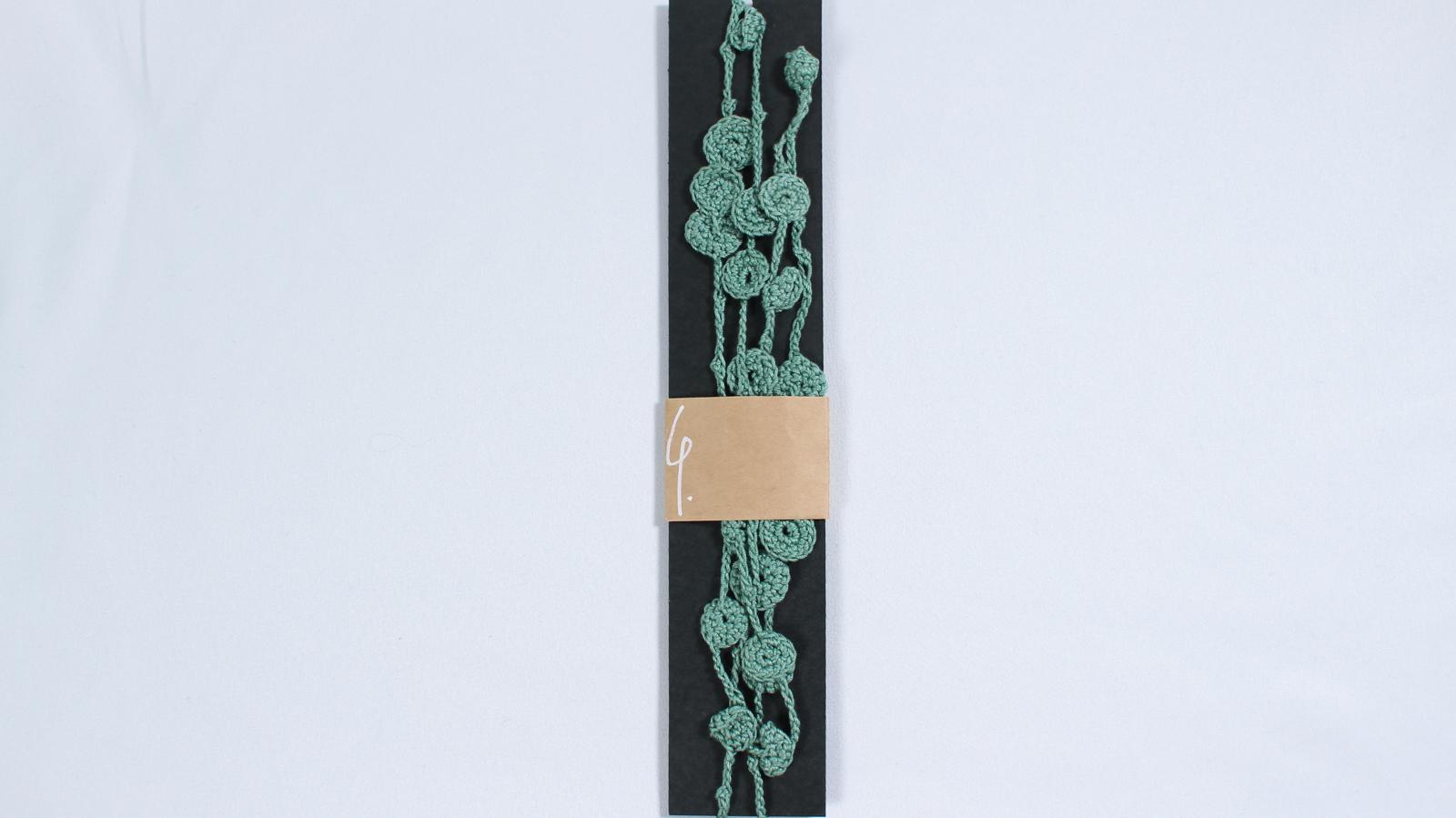 手編みクロシェ/二連 緑