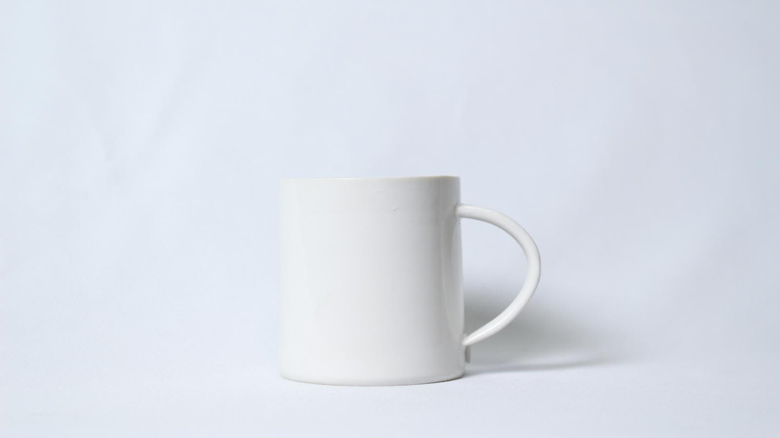 プラチナ銀彩マグカップ(白・小)