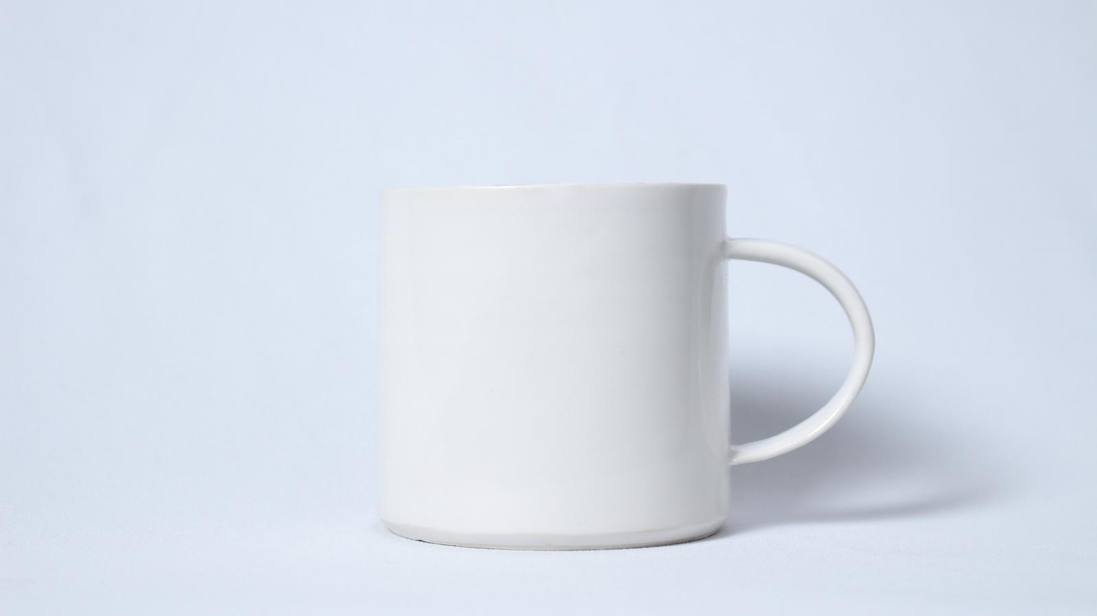 プラチナ銀彩マグカップ(白・中)