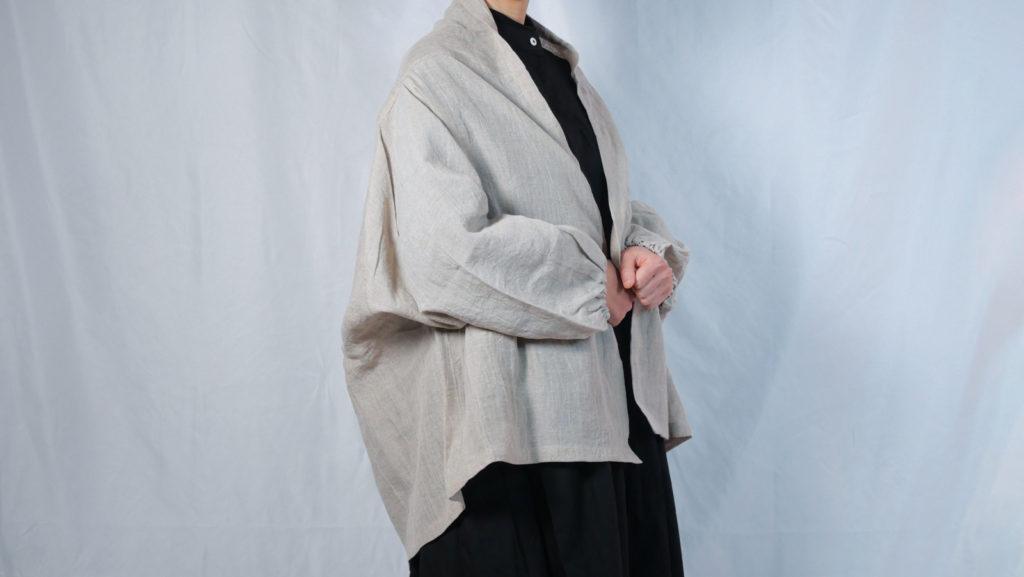 羽織りジャケット(リネン100%)